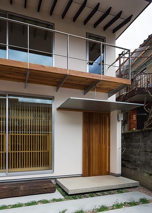 上高野の家の写真 外観(玄関)(撮影:松村芳治)