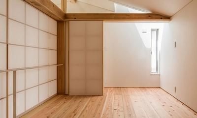 上高野の家 (寝室(撮影:松村芳治))