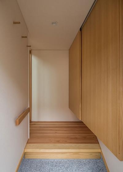 玄関(撮影:松村芳治) (上高野の家)