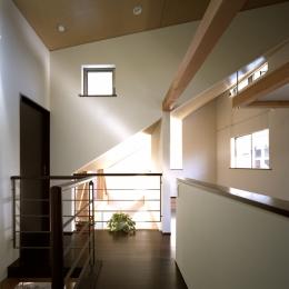 光をつなぐ家 (2F 廊下)