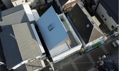 真間の家 (鳥瞰写真)