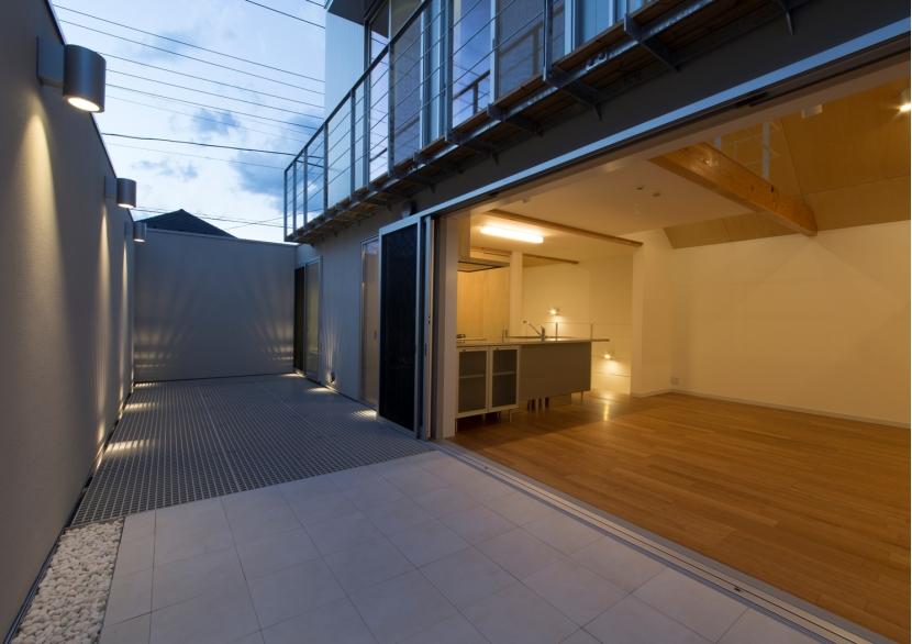 真間の家の写真 ルーフテラス-夕景