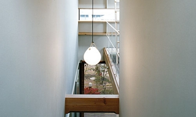 大庭寺の家 (階段室、玄関(撮影:松村芳治))