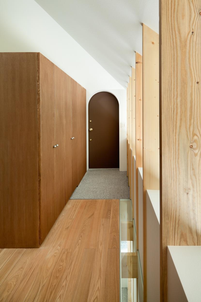 軽井沢Y邸の部屋 玄関