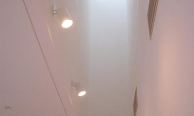 居間のトップライト|熊本の家