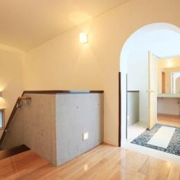 熊本の家 (2階階段ホール)