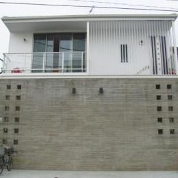 小日向の家 (南外観(道路側ファサード))