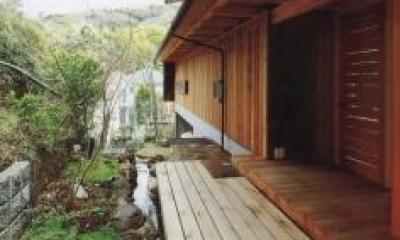 玄関ポーチ|北鎌倉の家