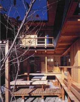 北鎌倉の家の写真 中庭