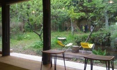 長柄の家 (茶の間からの眺め)