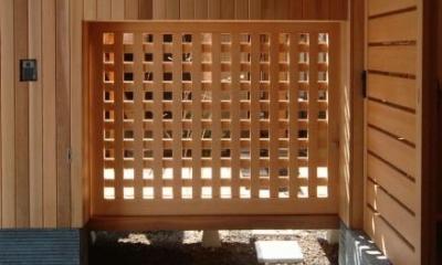 杉並の家 (中庭へのくぐり戸)