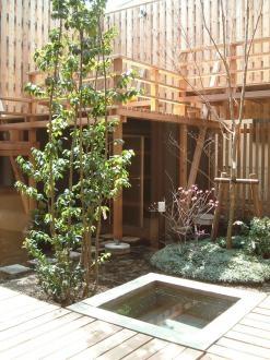杉並の家の部屋 中庭