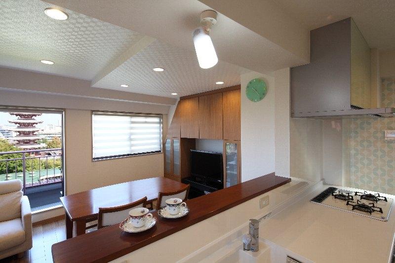 台東区I邸:マンションリノベーション (ダイニングキッチン)