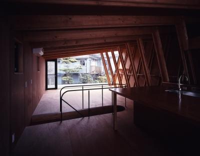 三ツ池の家 (リビングダイニング)