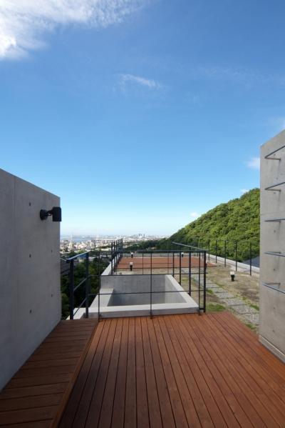 屋上庭園 (海と山の見える家)