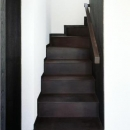 築35年の耐震補強・全面改修 和雑貨ショップ+手仕事ギャラリーの写真 浮遊感のある階段/錆鉄仕上げ