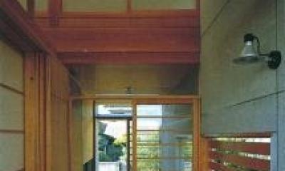 亀井野の家 (玄関ポーチ)