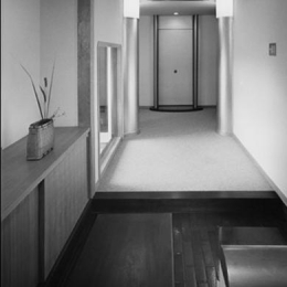 波田町の家 (玄関からホールを見る)