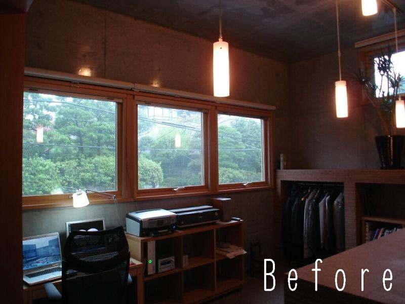 ローコストリノベーション  無機質空間から木質空間への部屋 Before コンクリート打ち放しを木質空間に