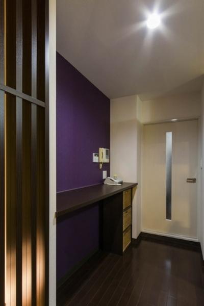 廊下 (大好きなアジアンテイストを、ぎゅっと集めた素敵な住まい)