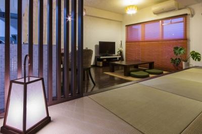 大好きなアジアンテイストを、ぎゅっと集めた素敵な住まい (リビングダイニング2)