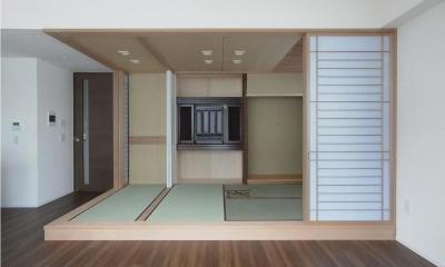 マンションに仏間⇔茶室  住まいの一角に心落ち着く空間を