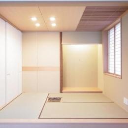 マンションに仏間⇔茶室  住まいの一角に心落ち着く空間を (三畳茶室/リビング側より)
