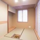 三畳茶室/水屋側より