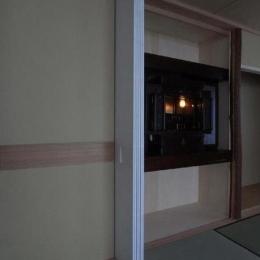 マンションに仏間⇔茶室  住まいの一角に心落ち着く空間を (建具開閉4/仏壇を開けた状態)