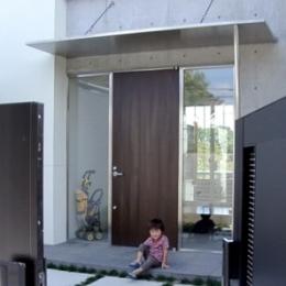 登美ケ丘の家 (玄関)
