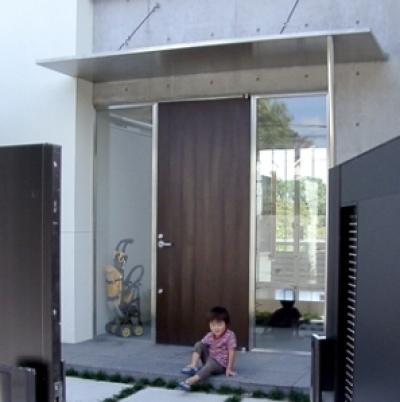 玄関 (登美ケ丘の家)