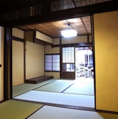 奈良町O邸(登録文化財) (居間)