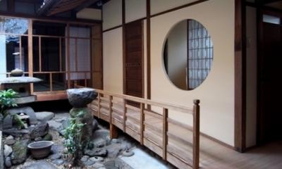 奈良町O邸(登録文化財) (廊下)