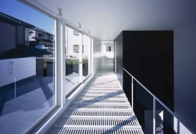 house Kfの部屋 廊下(撮影:H.HIRAI & H.SUGIURA)