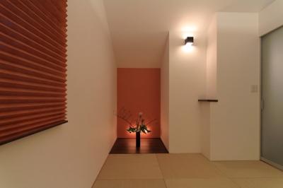 パーティーキッチンの家(1) (斬新な床の間デザイン)