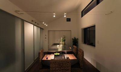 パーティーキッチンの家(1) (シックな雰囲気のダイニング)