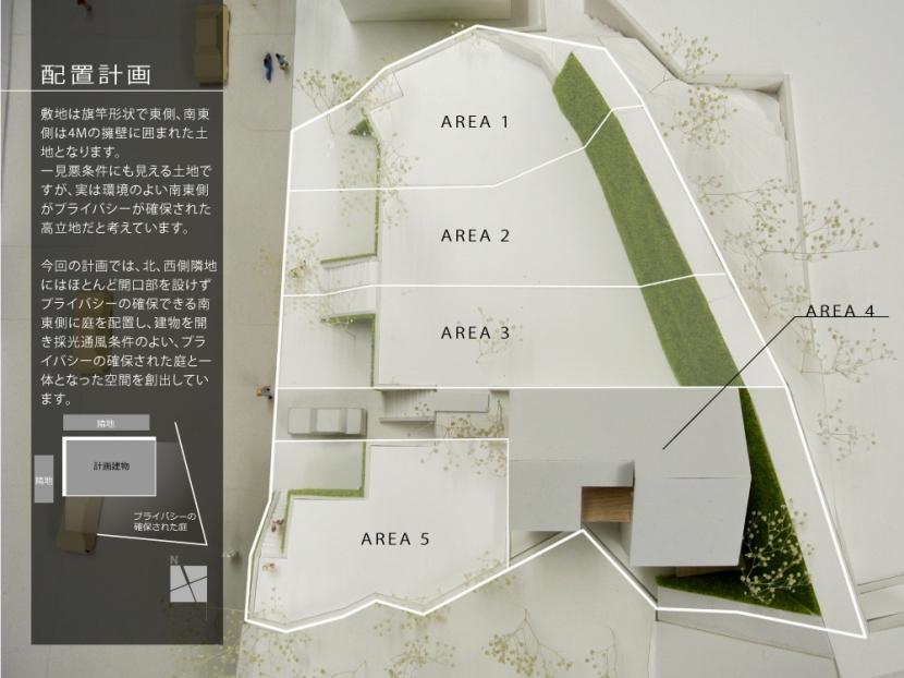 箕面建売住宅PJ_AREA 4の部屋 模型写真02