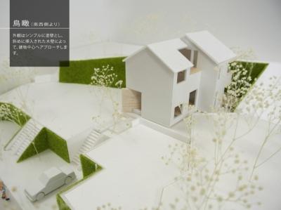 箕面建売住宅PJ_AREA 4 (模型写真03)