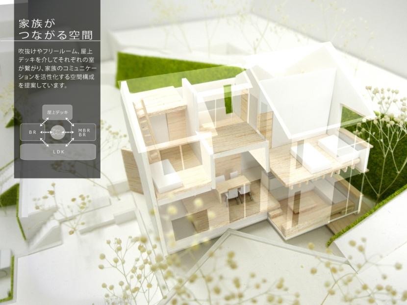 箕面建売住宅PJ_AREA 4の部屋 模型写真06