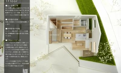 箕面建売住宅PJ_AREA 4 (模型写真07)
