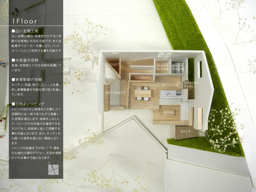 箕面建売住宅PJ_AREA 4の部屋 模型写真07