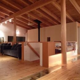 大自然の中で時間の流れを楽しむ家|那須の週末住宅 (2階リビング)