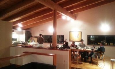 大自然の中で時間の流れを楽しむ家|那須の週末住宅 (大勢でパーティー)