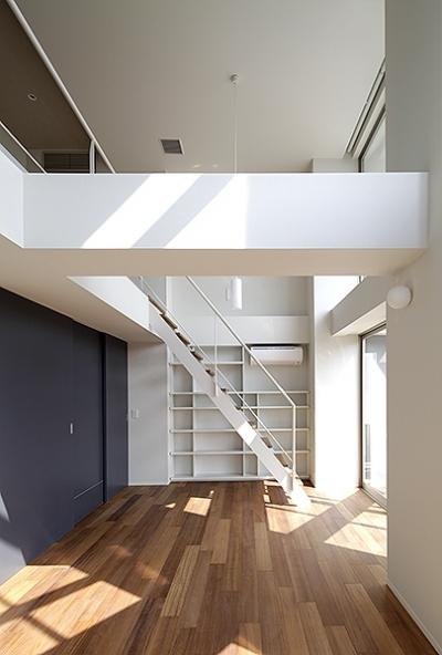 ロフトに続く階段1 (KITASANDO STYLE)