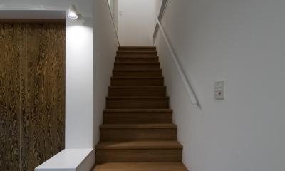 アウトドアリビングの家(4) (階段)