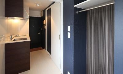 210号室キッチン&洗濯機スペース|町田市「アンティ玉川学園」:賃貸ワンルームリノベーション