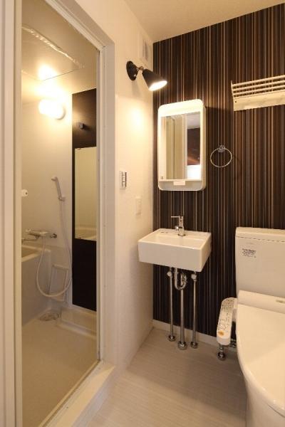 210号室サニタリー (町田市「アンティ玉川学園」:賃貸ワンルームリノベーション)