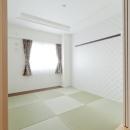 柔らかな印象の無垢材を多用し、明るく、風通しよく、楽しい空間にリノベーションの写真 和室