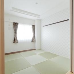 柔らかな印象の無垢材を多用し、明るく、風通しよく、楽しい空間にリノベーション (和室)