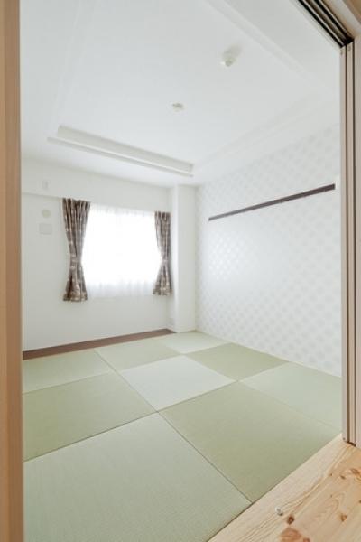 和室 (柔らかな印象の無垢材を多用し、明るく、風通しよく、楽しい空間にリノベーション)